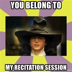 Harry Potter Sorting Hat - You Belong To  MY RECITATION SESSION