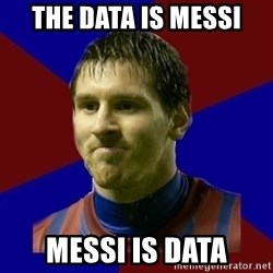 Lionel Messi - THE DATA IS MESSI MESSI IS DATA
