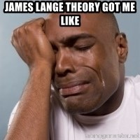cryingblackman - James Lange Theory got me like