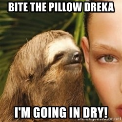 Whisper Sloth - Bite the pillow Dreka I'm goinG in dry!
