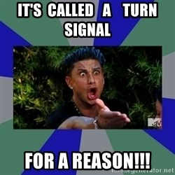jersey shore - IT'S  CALLED   A    TURN SIGNAL FOR A REASON!!!