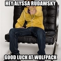 Justin Bieber Pointing - Hey Alyssa Rudawsky Good Luck at WolfPack