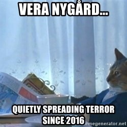 newspaper cat realization - Vera Nygård... quietly spreading terror since 2016
