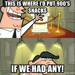 if i had one doubled - This is where I'd put 900's snacks If we had any!