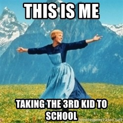 Sound Of Music Lady - This is me taking the 3rd kid to school