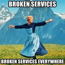 Sound Of Music Lady - Broken services broken services everywhere