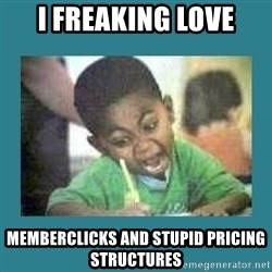I love coloring kid - i freaking love memberclicks and stupid pricing structures