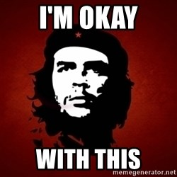 Che Guevara Meme - i'm okay with this