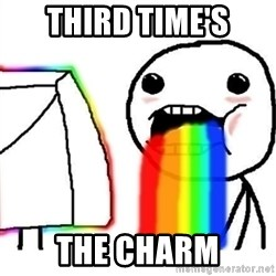 Puking Rainbows - Third Time's The Charm