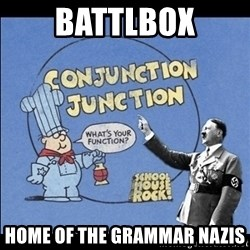 Grammar Nazi - BattlBox Home of the Grammar Nazis