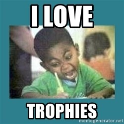I love coloring kid - I love trophies