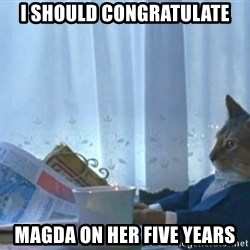 newspaper cat realization - i should congratulate magda on her five years
