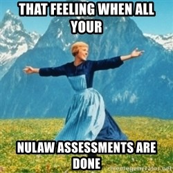 Sound Of Music Lady - that feeling when all your nulaw assessments are done