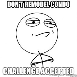 Challenge Accepted HD - Don't remodel condo