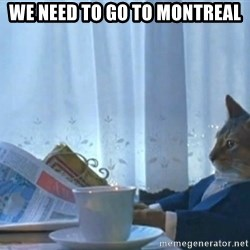 newspaper cat realization - we need to go to montreal