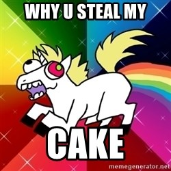 Lovely Derpy RP Unicorn - WHY U STEAL MY CAKE