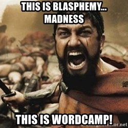 300 - this is blasphemy... madness this is wordcamp!