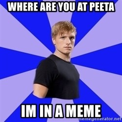 peetaaaaa - where are you at peeta  im in a meme