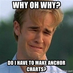90s Problems - Why oh why? Do I have to make anchor charts?
