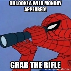 Spiderman Lunar Eclipse - oh look! a wild monday appeared! grab the rifle