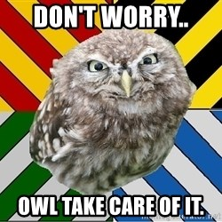 JEALOUS POTTEROMAN - Don't worry..  Owl take care of it.