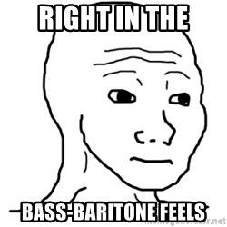 That Feel Guy - Right in the Bass-baritone feels