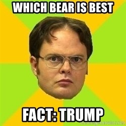Courage Dwight - which Bear Is Best Fact: Trump