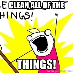 clean all the things - CLEAN ALL OF THE THINGS!