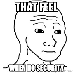 That Feel Guy - That feel when no security