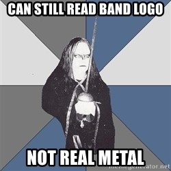 Black Metal Sword Kid - Can still read band logo Not real metal