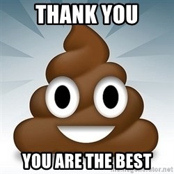 Facebook :poop: emoticon - thank you you are the best