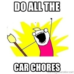 clean all the things blank template - do all the car chores