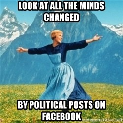 Sound Of Music Lady - Look at all the minds changed by political posts on Facebook