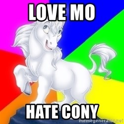 Gayy Unicorn - love mo hate cony