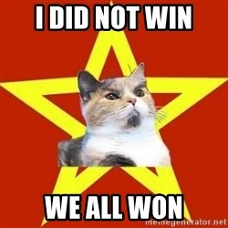 Lenin Cat Red - I DID NOT WIN WE ALL WON