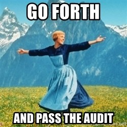 Sound Of Music Lady - go forth and pass the audit