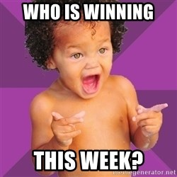 Baby $wag - Who is winning  this week?