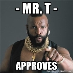 Mr T Fool - - Mr. T - approves