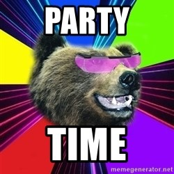 Party Bear - PARTY TIME