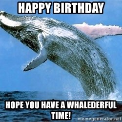 whaleeee - Happy Birthday Hope you have a whalederful time!