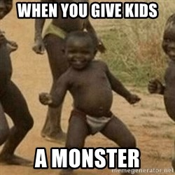 Little Black Kid - When you give kids a monster