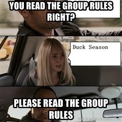 The Rock driving - you read the group rules right? please read the group rules