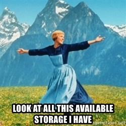 Sound Of Music Lady -  Look at all this available storage I have