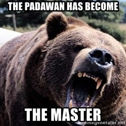 Bear week - the padawan has become the master