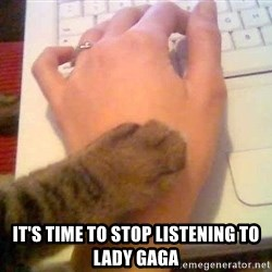 It's time to stop cat -  It's time to stop listening to Lady Gaga