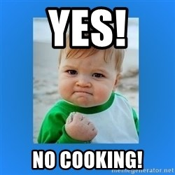 yes baby 2 - Yes! No cooking!