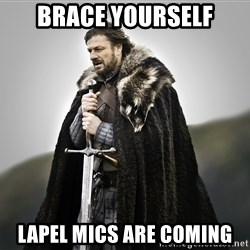 ned stark as the doctor - brace yourself lapel mics are coming
