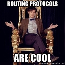 Hipster Doctor Who - Routing Protocols Are cool