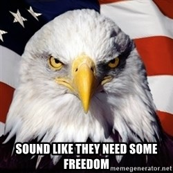 Freedom Eagle  -  Sound like they need some freedom