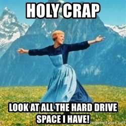 Sound Of Music Lady - Holy CRAP Look at all the hard drive space I have!